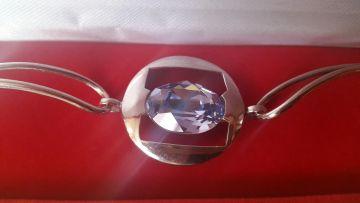 Sidabrinė apyrankė su Swarowski kristalu