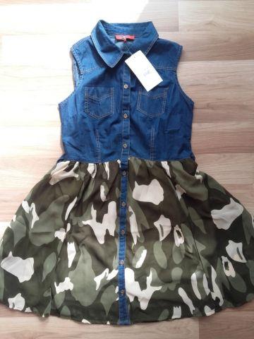 Nauja džinsinė kareiviška suknelė