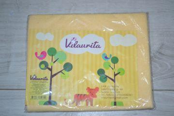 Neperšlampamas geltonas paklotas 50x75 cm