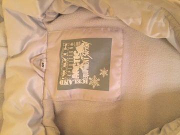 Sidabrinė šilta žieminė striukė