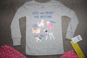 Nauja 2 dalių Carter;s pižama 4 m. mergaitei