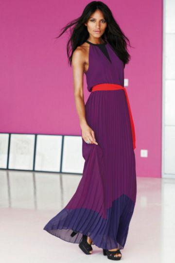 NEXT firmos MAXI COLORBLOCK DRESS