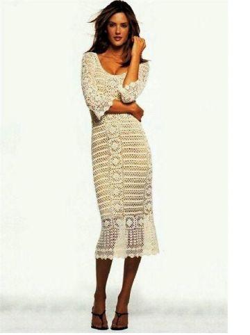 47. CROCHET TRIM DRESS - seksuali ir gundanti megzta suknytė