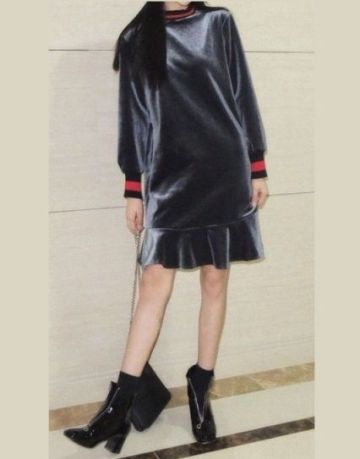 54. VELOUR DRESS- nuostabi suknytė,