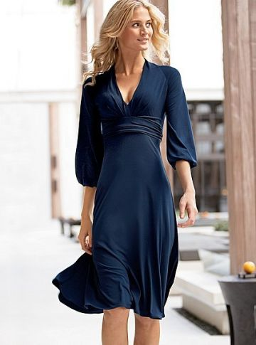 206. VICTORIA'S SECRET V-neck curvy jersey dress