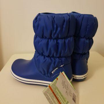 Mėlyni Crocs aulinukai