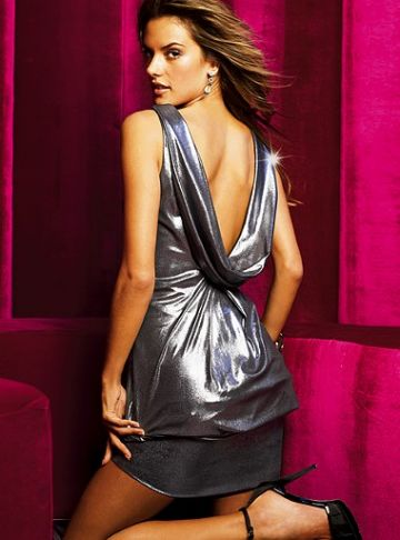 245. Allen B. Schwartz pristatyta Victoria's secret kataloge  Cocktail Silver Dress