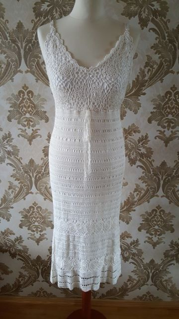 284. CROCHET TRIM DRESS