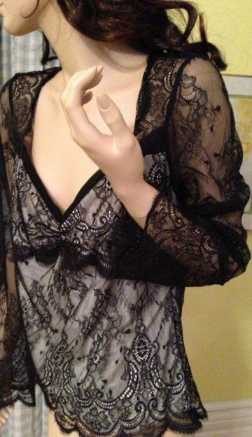 4. Victoria's Secret kataloge pristatyta žavulinga nėrinių palaidinė