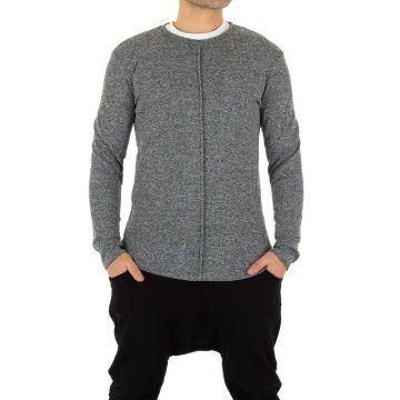 pilkas ilgesnio modelio vyriškas megztinis