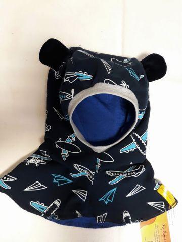 Rudeninis šalmas kepurė su ausytėmis