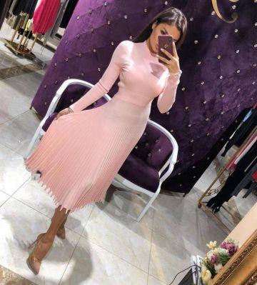 Nauja šviesiai rožinė suknelė