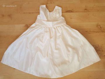 Graži balta proginė suknelė, 2-3m.