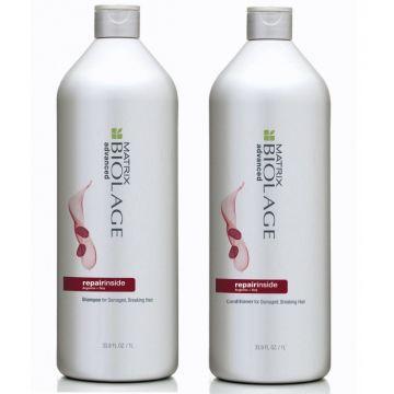 Matrix Biolage RepairInside rinkinys - šampūnas ir kondicionierius, po 1 L