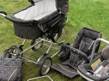 Emmaljunga trijų dalių vežimėlis