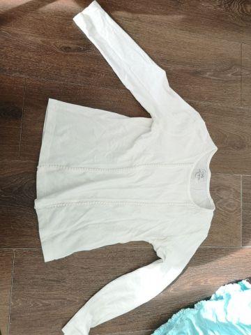 Balta maikutė ilgom rankovėm