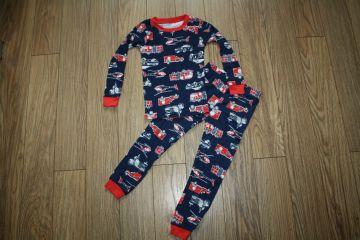 Nauja medvilninė pižama su gaisrinėmis mašinomis