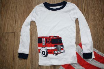 Nauja medvilninė pižama su gaisrine mašina
