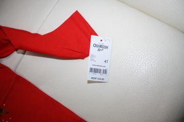 Ryški raudona palaidinė 4 m. mergaitei