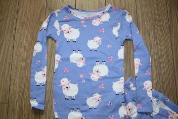 Nauja medvilninė pižama 3 m. mergaitei