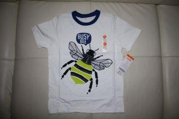 Palaidinė trumpomis rankovėmis 4 m. berniukui su bite