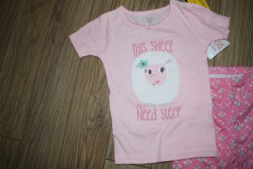 Nauja medvilninė pižama 4 m. mergaitei