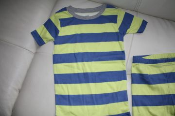 Trumparankovė medvilninė pižama 6 m. berniukui