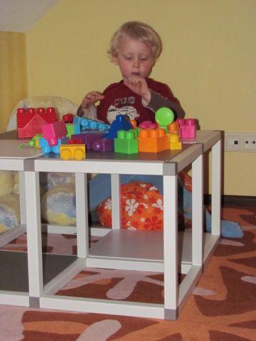 Modulinė surenkama lentyna- stalas - stelažas 3 in 1