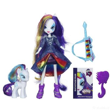 My Little Pony Equestria Girls Rainbow Rocks Rarity lėlė ir poniukas